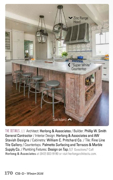 Home Design Magazine our kitchen was featured in charleston home+design magazine - a.w.
